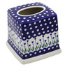 6-inch Stoneware Tissue Box Cover - Polmedia Polish Pottery H7228K