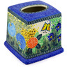 6-inch Stoneware Tissue Box Cover - Polmedia Polish Pottery H8073C