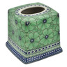 6-inch Stoneware Tissue Box Cover - Polmedia Polish Pottery H9385K