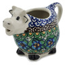 6 oz Stoneware Cow Shaped Creamer - Polmedia Polish Pottery H4880K