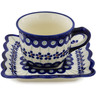 6 oz Stoneware Cup with Saucer - Polmedia Polish Pottery H1371L