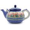 61 oz Stoneware Tea or Coffee Pot - Polmedia Polish Pottery H0021J
