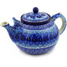 61 oz Stoneware Tea or Coffee Pot - Polmedia Polish Pottery H4364F