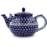 61 oz Stoneware Tea or Coffee Pot - Polmedia Polish Pottery H5552B