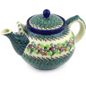 61 oz Stoneware Tea or Coffee Pot - Polmedia Polish Pottery H7570E