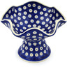 7-inch Stoneware Bowl with Pedestal - Polmedia Polish Pottery H0422H