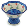 7-inch Stoneware Bowl with Pedestal - Polmedia Polish Pottery H9282H