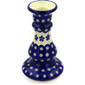 7-inch Stoneware Candle Holder - Polmedia Polish Pottery H0844A