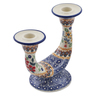 7-inch Stoneware Candle Holder - Polmedia Polish Pottery H6744K