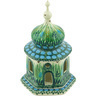 7-inch Stoneware Chapel Candle Holder - Polmedia Polish Pottery H5643G