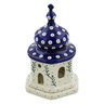 7-inch Stoneware Chapel Candle Holder - Polmedia Polish Pottery H5859K