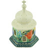 7-inch Stoneware Chapel Candle Holder - Polmedia Polish Pottery H6716G