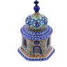 7-inch Stoneware Chapel Candle Holder - Polmedia Polish Pottery H9278G