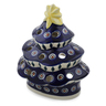 7-inch Stoneware Christmas Tree Candle Holder - Polmedia Polish Pottery H1157A