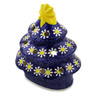 7-inch Stoneware Christmas Tree Candle Holder - Polmedia Polish Pottery H1172A