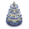 7-inch Stoneware Christmas Tree Candle Holder - Polmedia Polish Pottery H2467J
