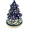 7-inch Stoneware Christmas Tree Candle Holder - Polmedia Polish Pottery H4767D
