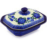 7-inch Stoneware Dish with Cover - Polmedia Polish Pottery H4429G