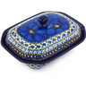 7-inch Stoneware Dish with Cover - Polmedia Polish Pottery H5258G