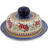 7-inch Stoneware Dish with Cover - Polmedia Polish Pottery H7603K