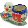 7-inch Stoneware Duck Shaped Jar - Polmedia Polish Pottery H4040K