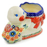 7-inch Stoneware Duck Shaped Jar - Polmedia Polish Pottery H4174K