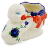 7-inch Stoneware Duck Shaped Jar - Polmedia Polish Pottery H4558K