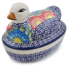 7-inch Stoneware Duck Shaped Jar - Polmedia Polish Pottery H6646K