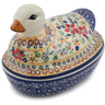 7-inch Stoneware Duck Shaped Jar - Polmedia Polish Pottery H6750K