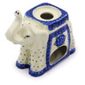 7-inch Stoneware Elephant Candle Holder - Polmedia Polish Pottery H6048I