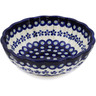 7-inch Stoneware Fluted Bowl - Polmedia Polish Pottery H1313L