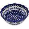 7-inch Stoneware Fluted Bowl - Polmedia Polish Pottery H1322L