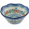 7-inch Stoneware Fluted Bowl - Polmedia Polish Pottery H4061H