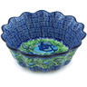 7-inch Stoneware Fluted Bowl - Polmedia Polish Pottery H5025H
