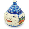 7-inch Stoneware Garlic and Onion Jar - Polmedia Polish Pottery H0818H