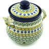 7-inch Stoneware Garlic and Onion Jar - Polmedia Polish Pottery H6179H