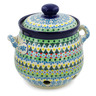 7-inch Stoneware Garlic and Onion Jar - Polmedia Polish Pottery H7675J