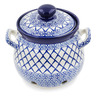 7-inch Stoneware Garlic and Onion Jar - Polmedia Polish Pottery H8885K