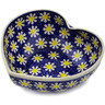 7-inch Stoneware Heart Shaped Bowl - Polmedia Polish Pottery H3298K