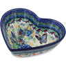 7-inch Stoneware Heart Shaped Bowl - Polmedia Polish Pottery H9303I