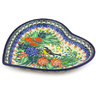 7-inch Stoneware Heart Shaped Platter - Polmedia Polish Pottery H3371G