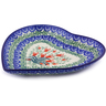 7-inch Stoneware Heart Shaped Platter - Polmedia Polish Pottery H5006I