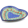 7-inch Stoneware Heart Shaped Platter - Polmedia Polish Pottery H5010I