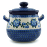 7-inch Stoneware Jar with Lid and Handles - Polmedia Polish Pottery H1674I