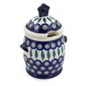7-inch Stoneware Jar with Lid and Handles - Polmedia Polish Pottery H6868J