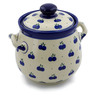 7-inch Stoneware Jar with Lid and Handles - Polmedia Polish Pottery H8838A
