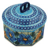 7-inch Stoneware Jar with Lid - Polmedia Polish Pottery H0868E