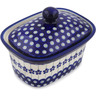 7-inch Stoneware Jar with Lid - Polmedia Polish Pottery H1387L