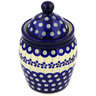 7-inch Stoneware Jar with Lid - Polmedia Polish Pottery H2586E