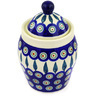 7-inch Stoneware Jar with Lid - Polmedia Polish Pottery H2651E